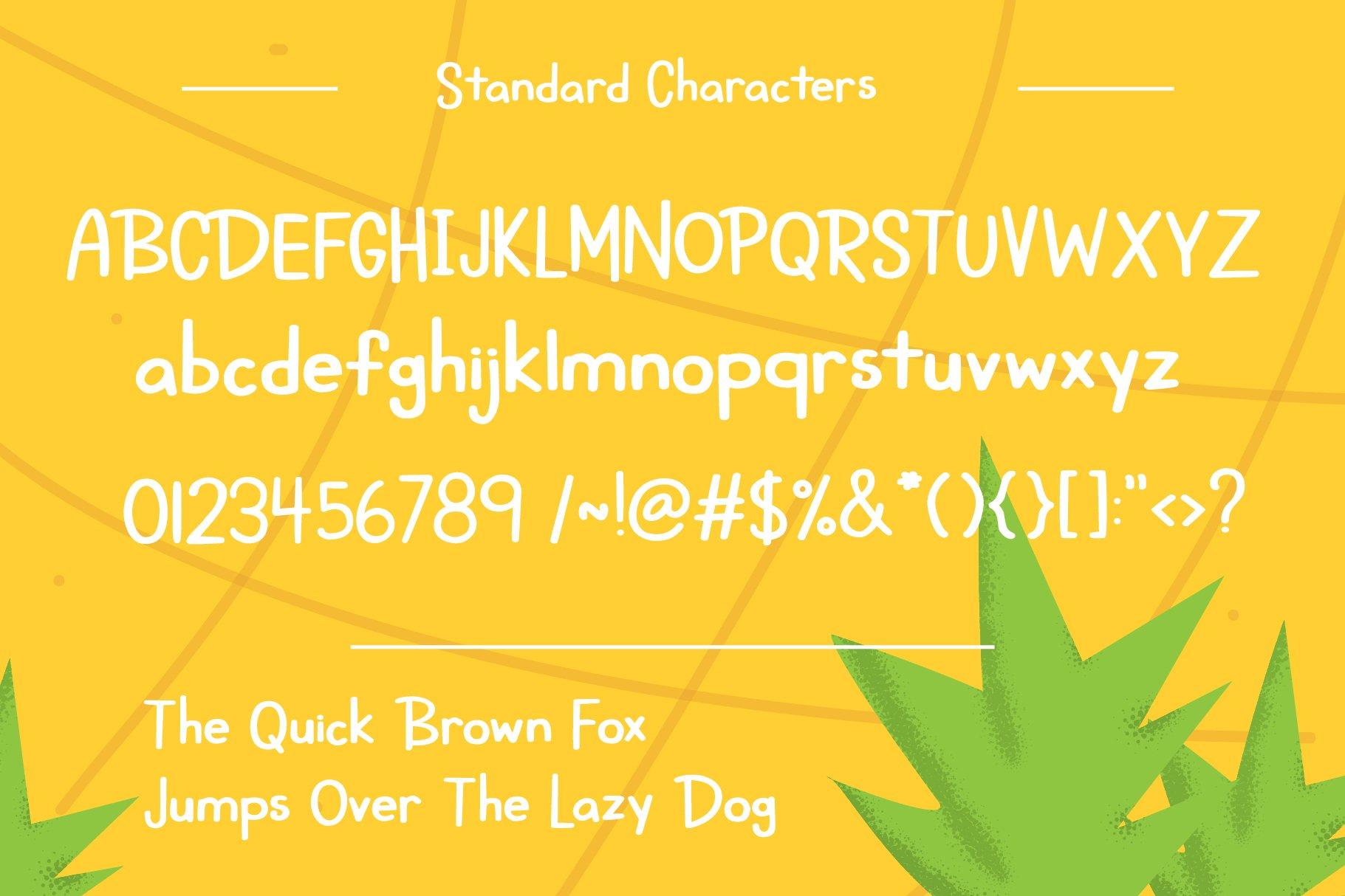 Roadside Pineapple Font Duo example image 3