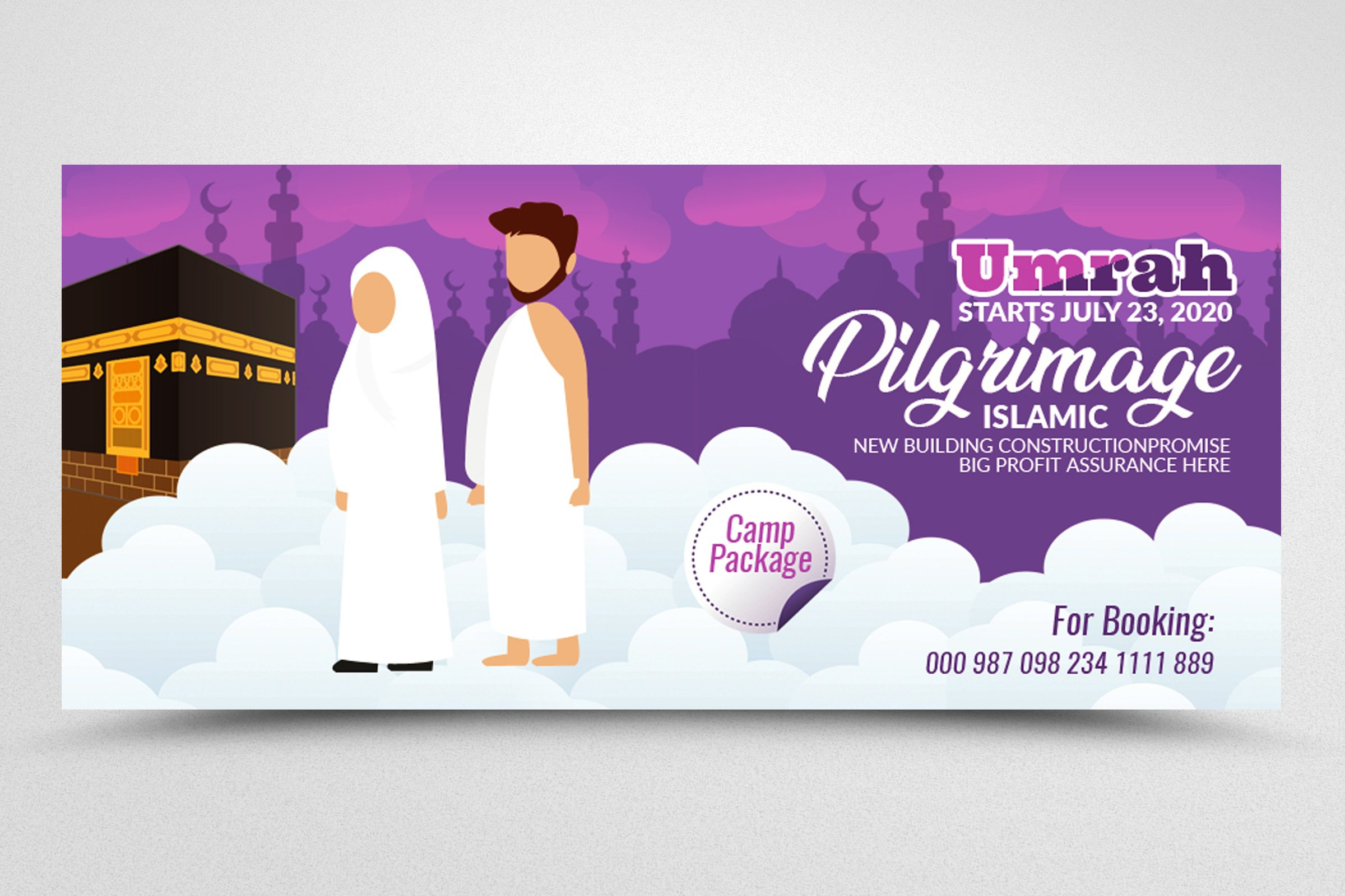 Hajj & Umrah Facbook Banner example image 3
