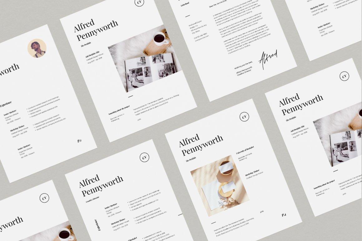 Resume & Portfolio Template - Alfred example image 4