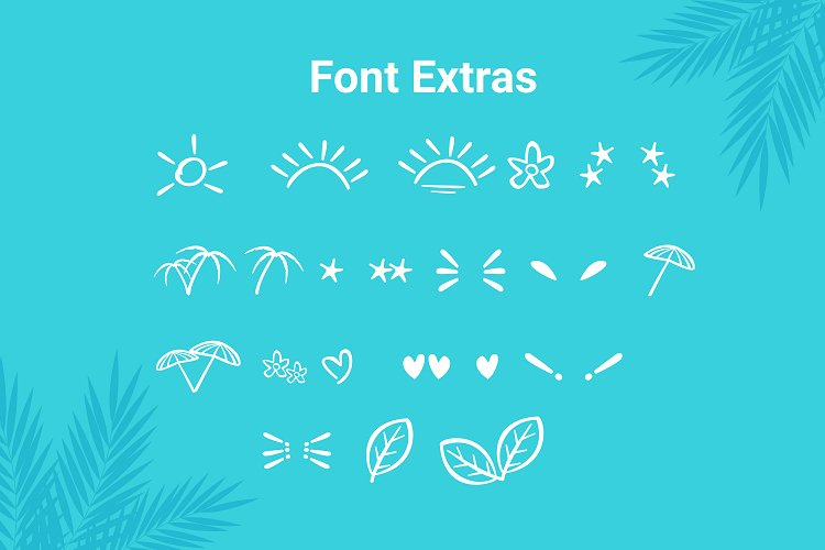 Wind Palm - Handwritten Font With Extras example image 7