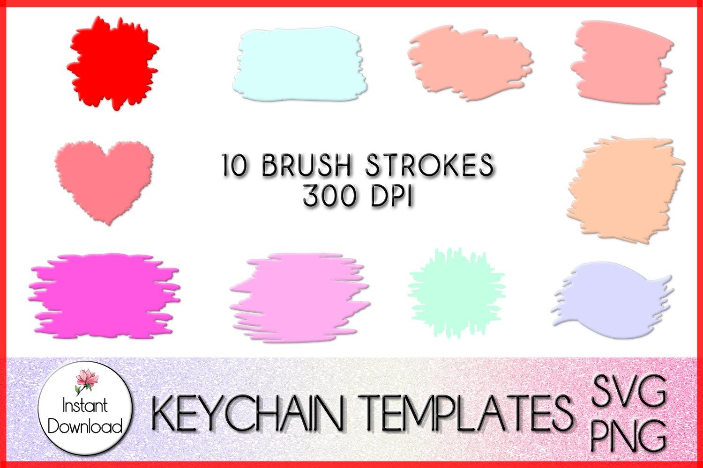 Round Paint Brush Stroke Svg Keychain Svg – 80+ SVG PNG EPS DXF File