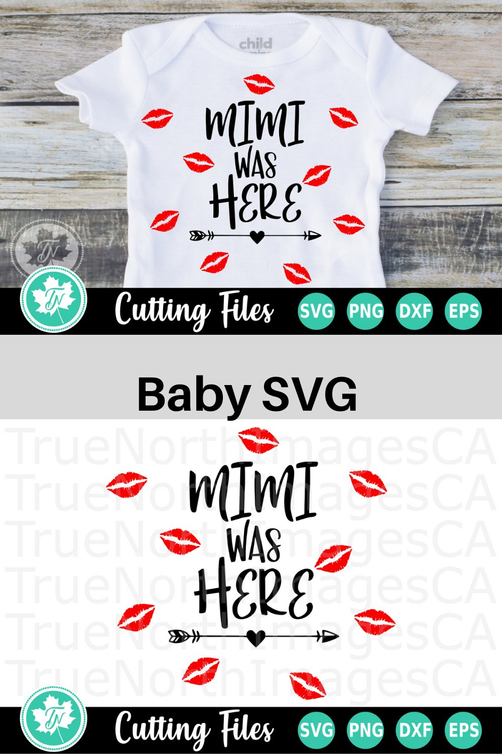 Mimi Was Here - A Baby SVG Cut File example image 2