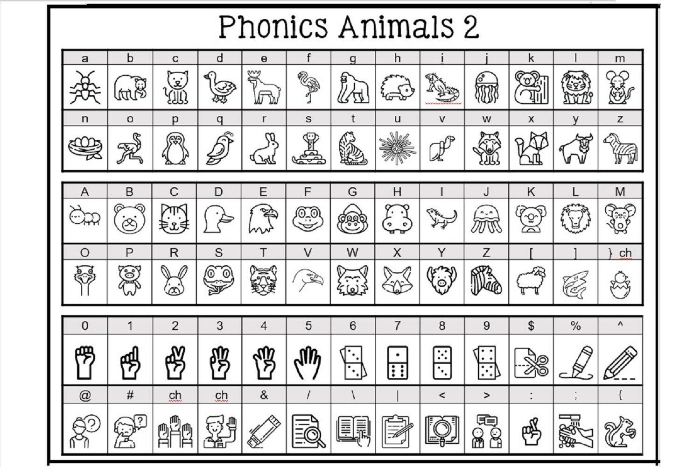 Phonics Fonts Bundle - 8 Clip Art Fonts example image 2