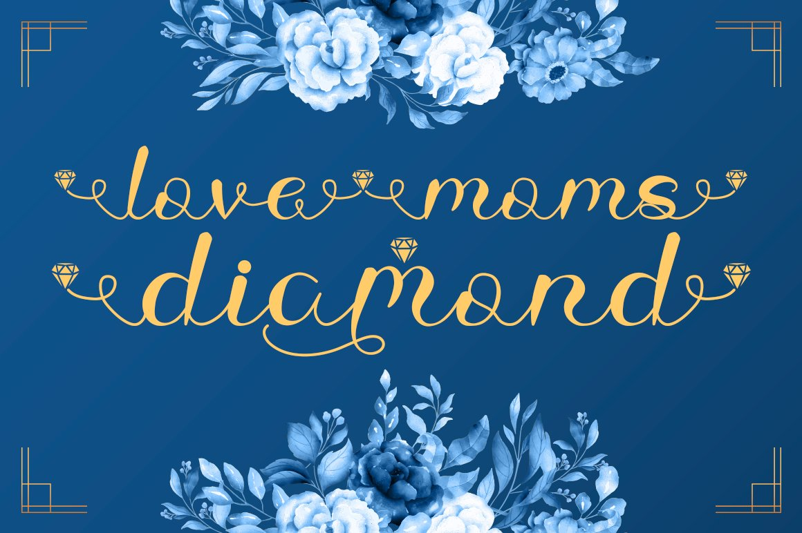 Love Moms Diamond - Modern Calligraphy for Mother's Day example image 1