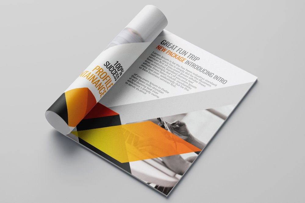 Business Portfolio Bifold Brochure 16 Pages example image 7