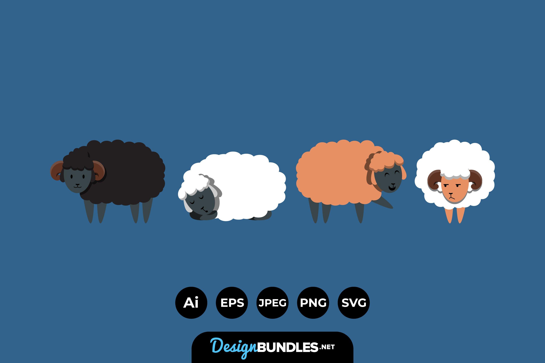 Sheep Illustrations example image 1