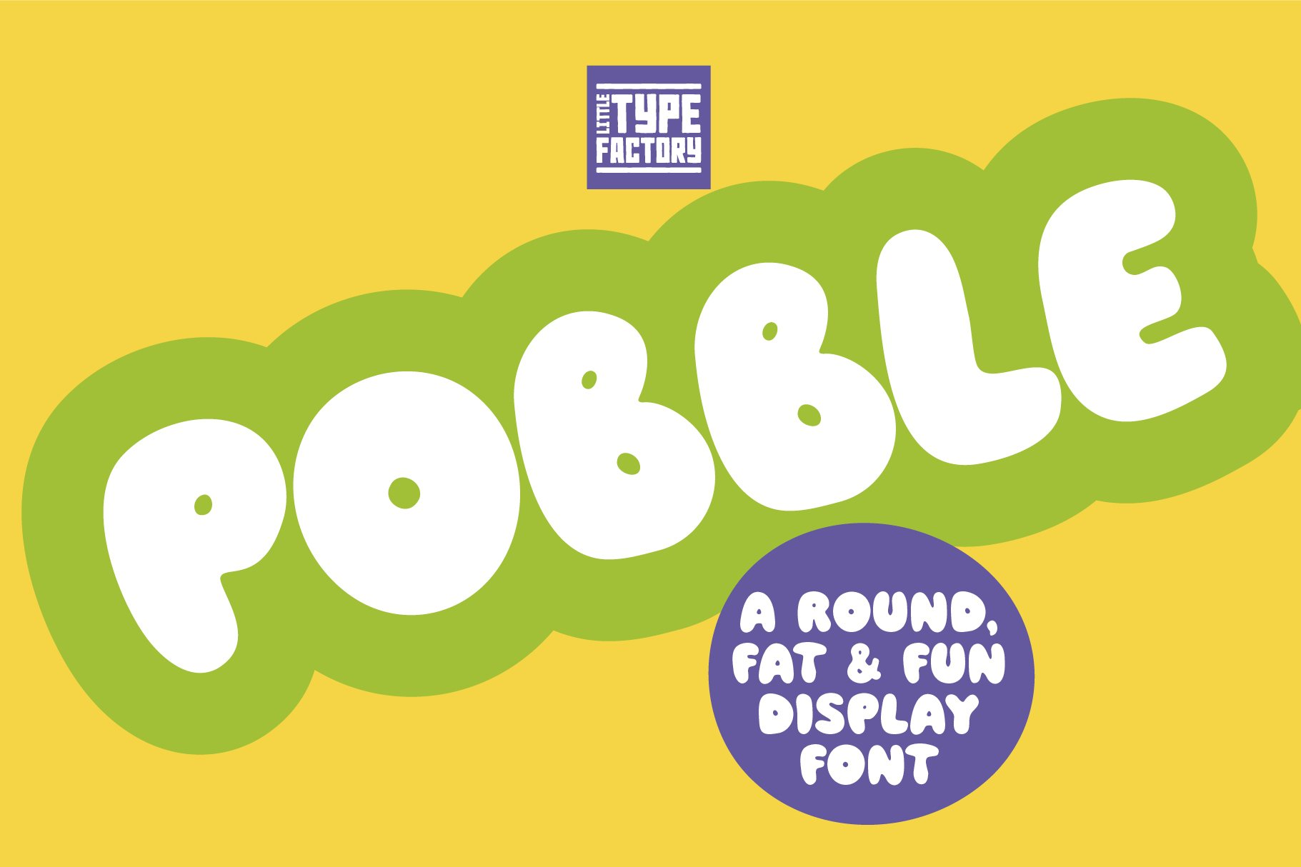 Pobble - cartoon comic style font example image 5