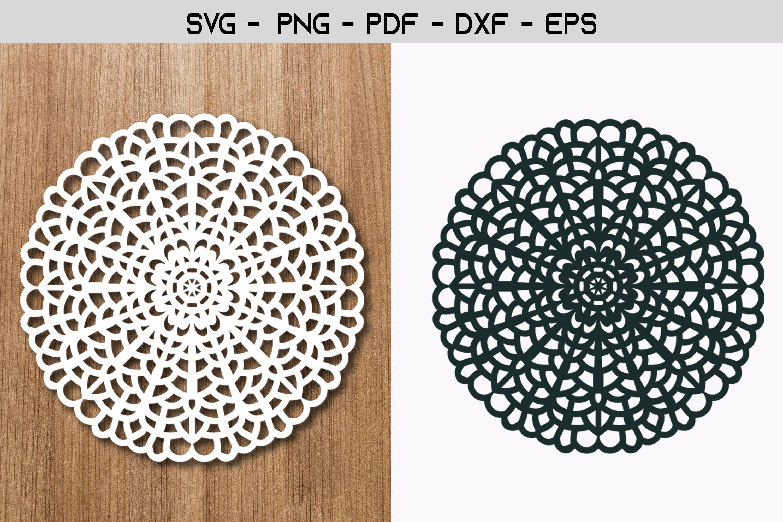 Mandala Flower Paper Template Design example image 1