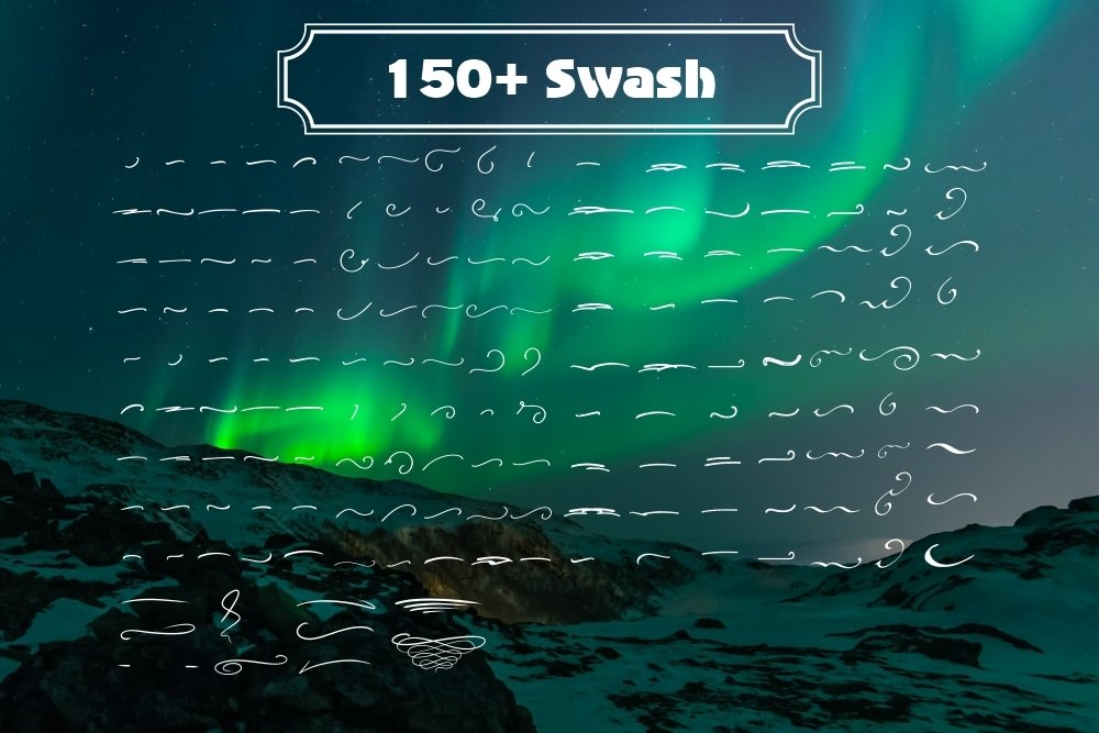 Agnezia - 5 Font styles and 150 Swashes example image 6
