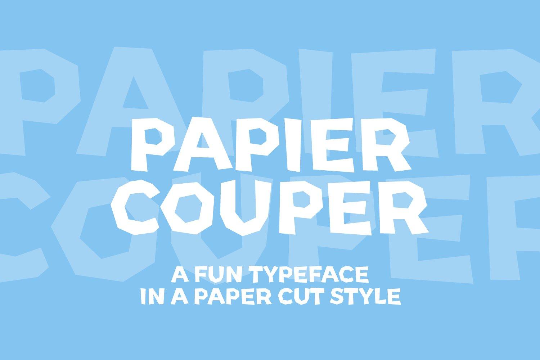 Papier Couper - A fun papercut style font example image 1