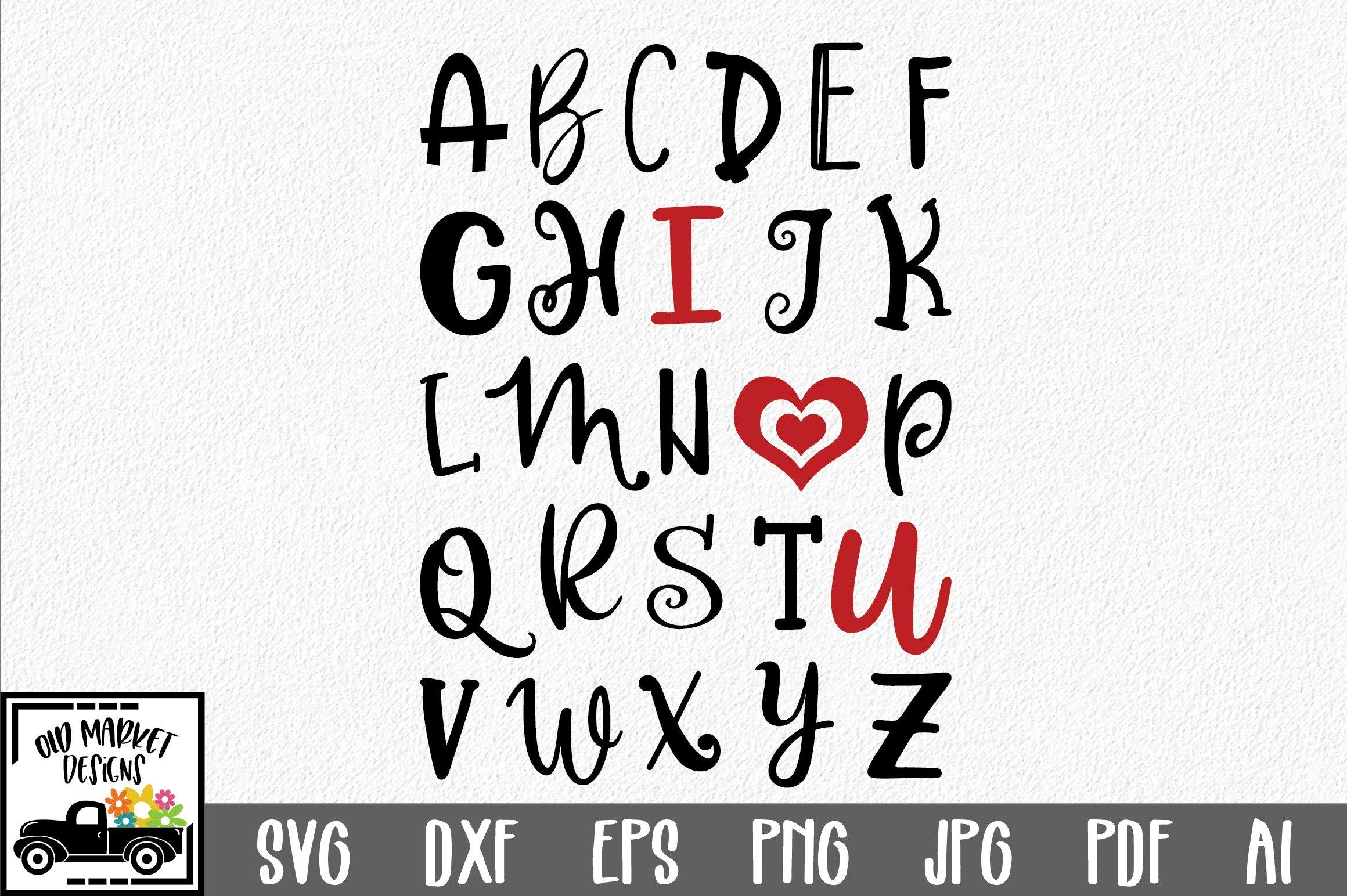 Abc I Love You Svg Cut File Svg Eps Dxf Png Pdf Ai 180249 Svgs Design Bundles