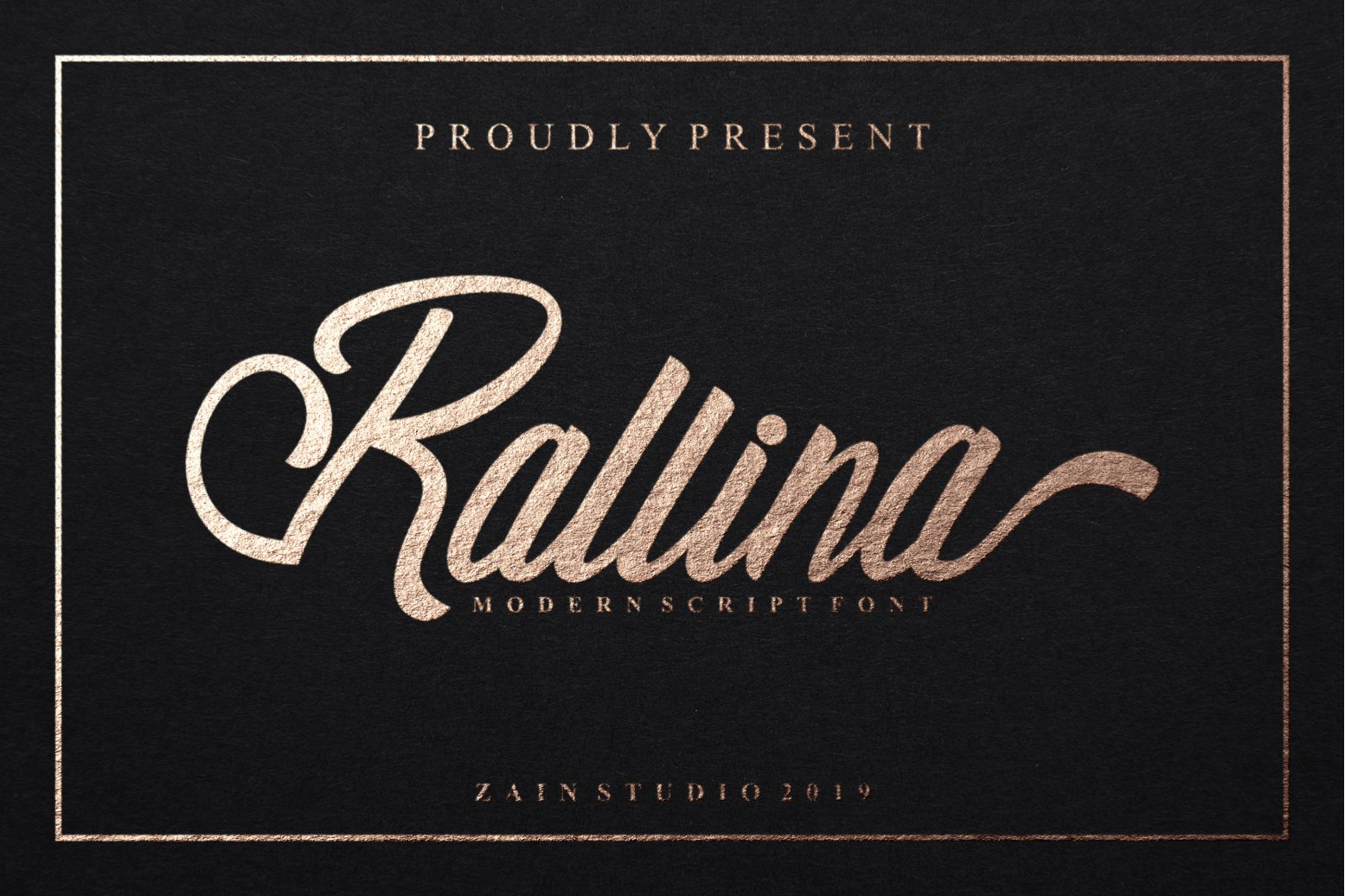 Ralline Modern Script Font example image 1