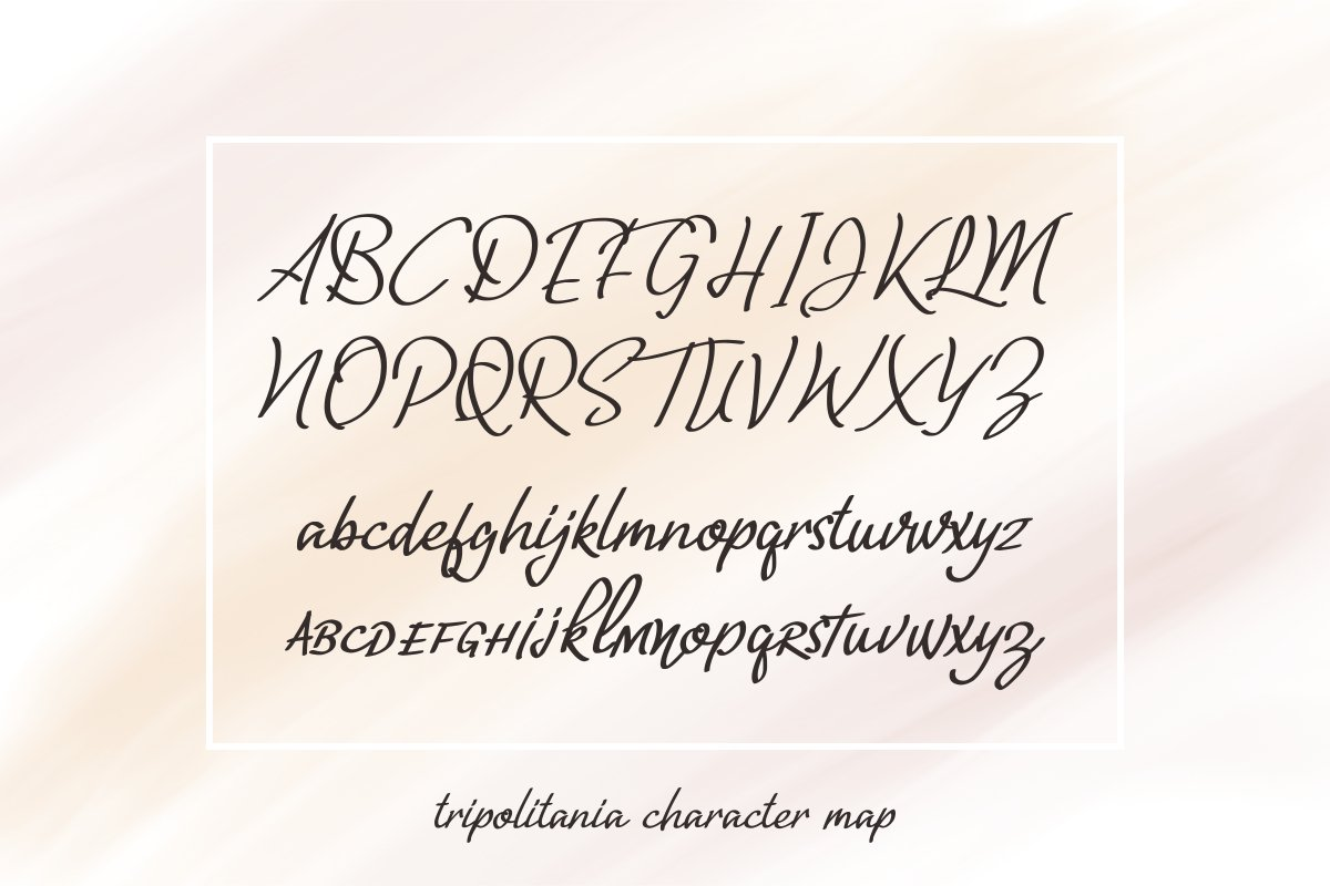 Tripolitania Stylish Handwritting Script Font example image 9