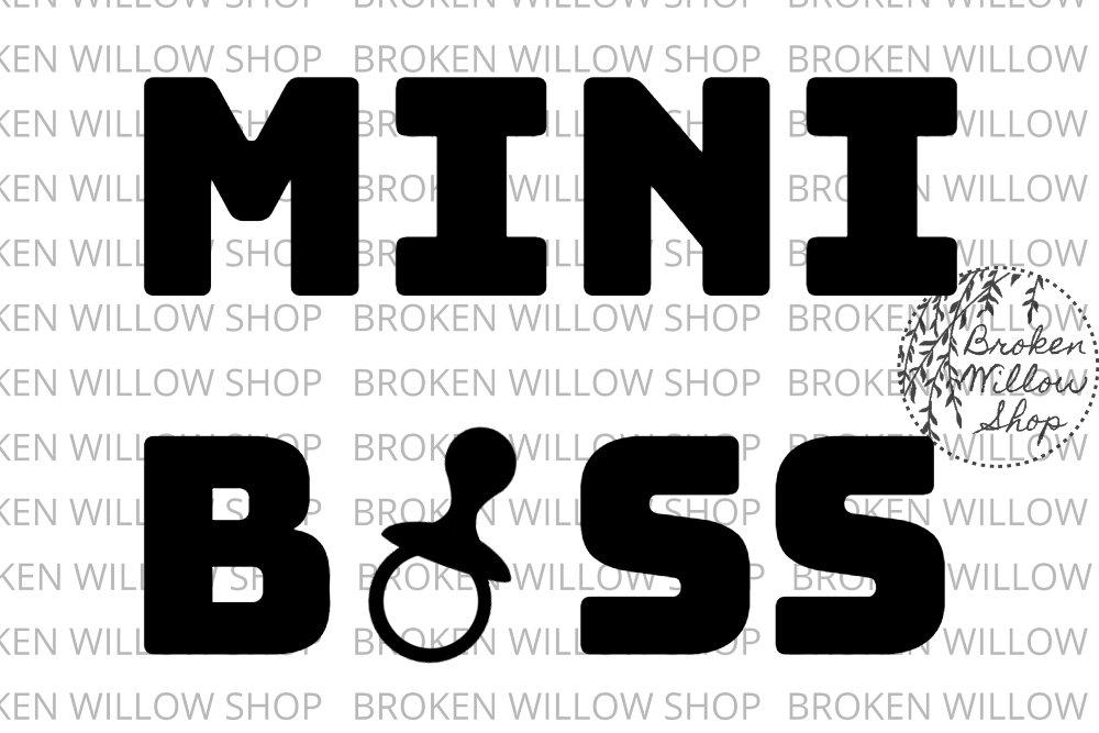 Mini Boss SVG, DXF, Png, Jpg, Eps Zip File example image 2