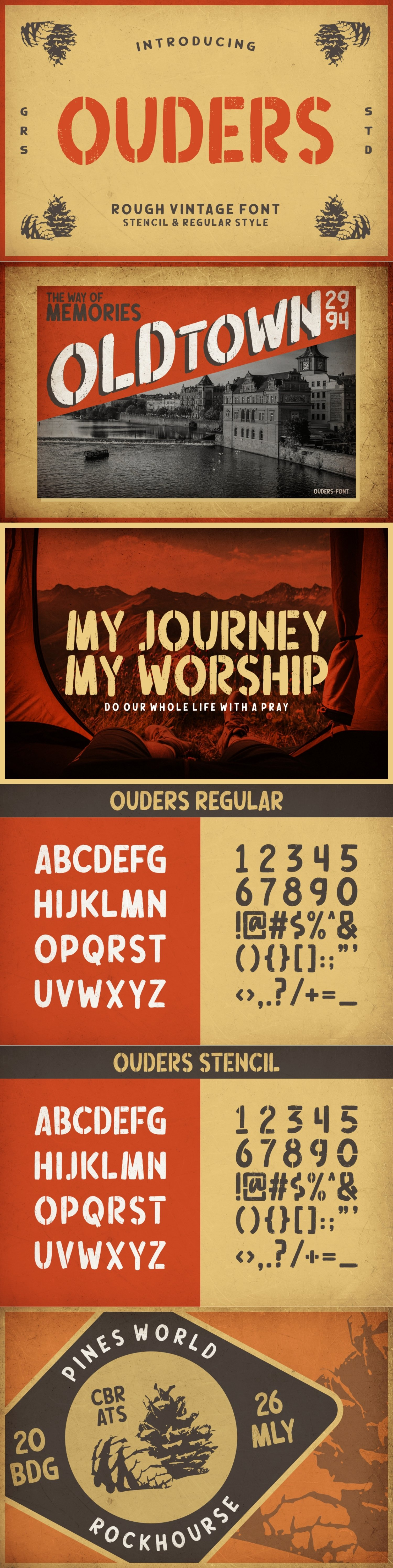 Ouders - Stencil & Regular Font example image 12
