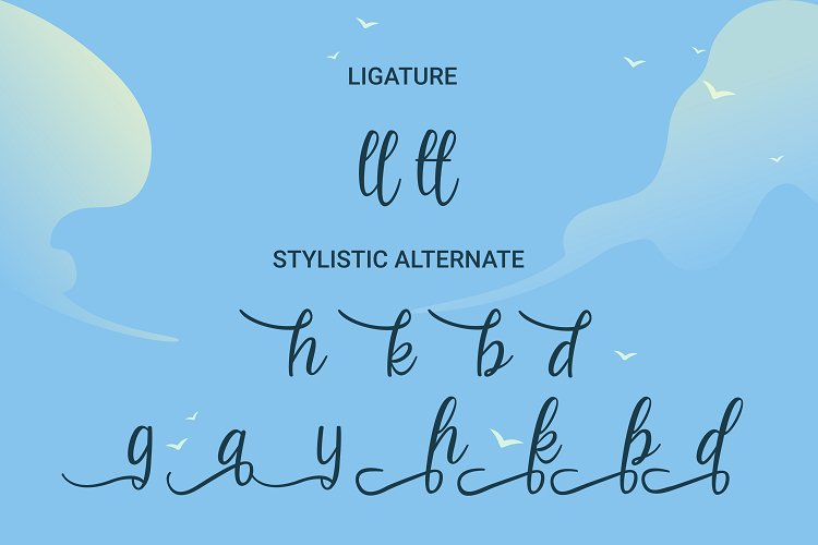 Beach Umbrella - Handwritten Script Font example image 4