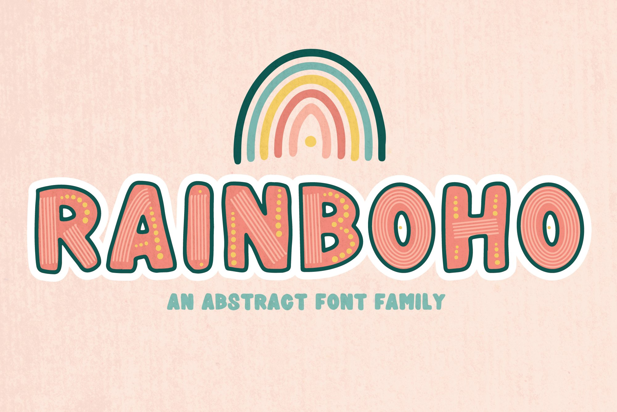 Rainboho   A Layered Abstract Font Family example image 1