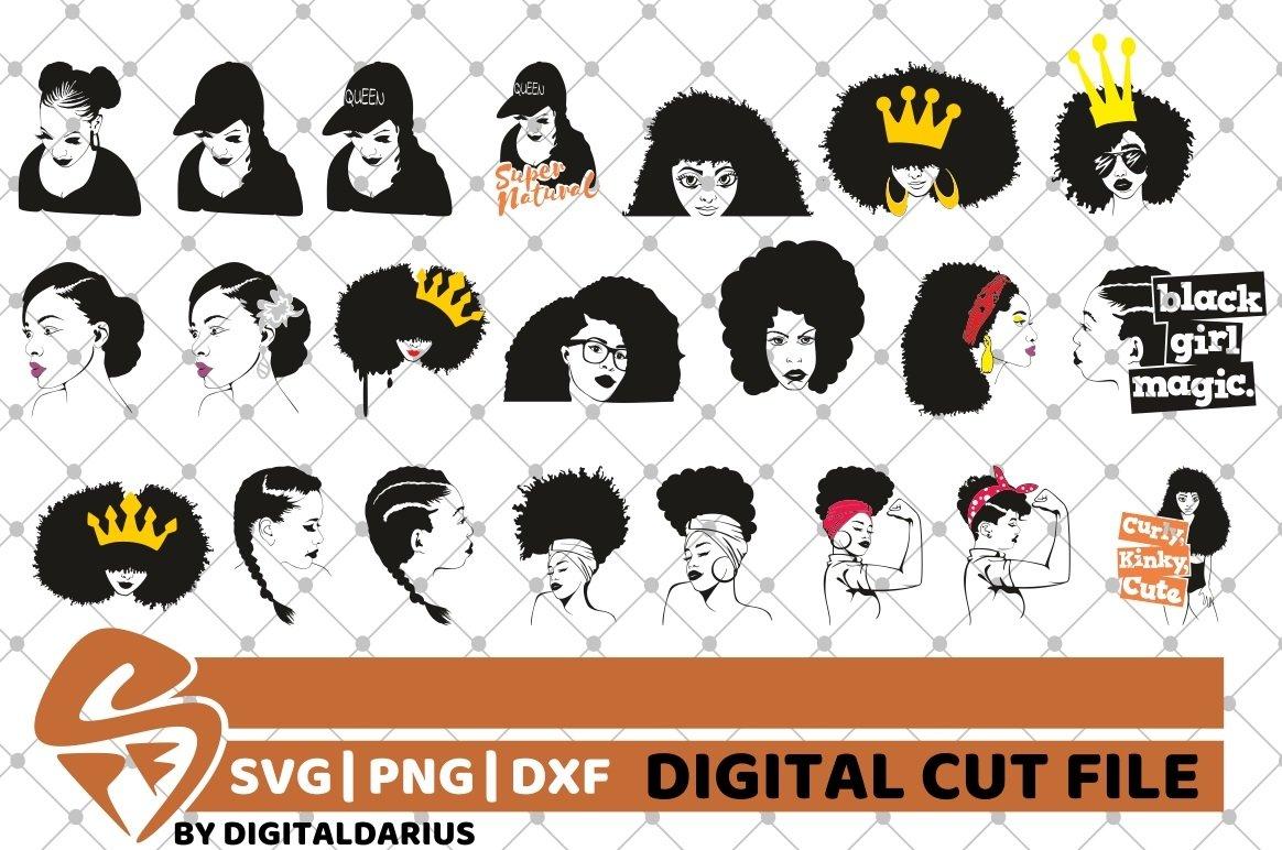 107x Black Woman Designs Bundle SVG, Black Queen, Melanin example image 6