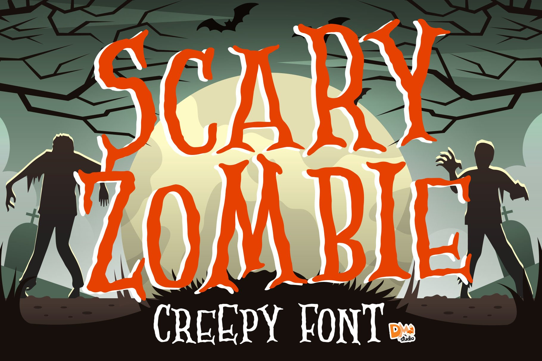 Scary Zombie - Spooky Font example image 1