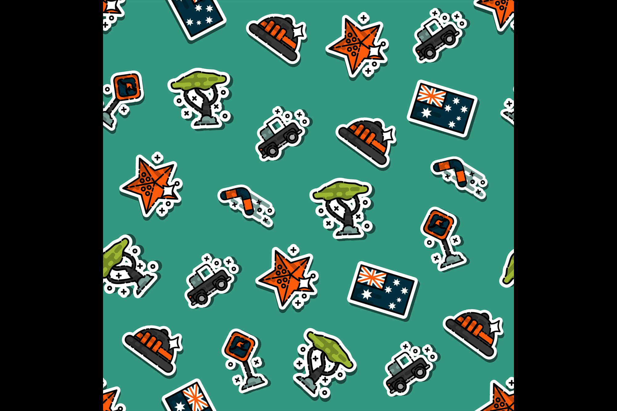 Australia set pattern example image 1