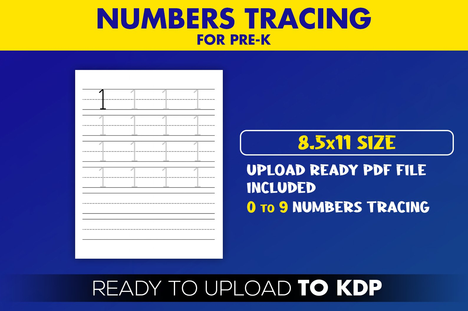 Numbers Tracing for Pre-k KDP Interior Ready to Upload example image 2