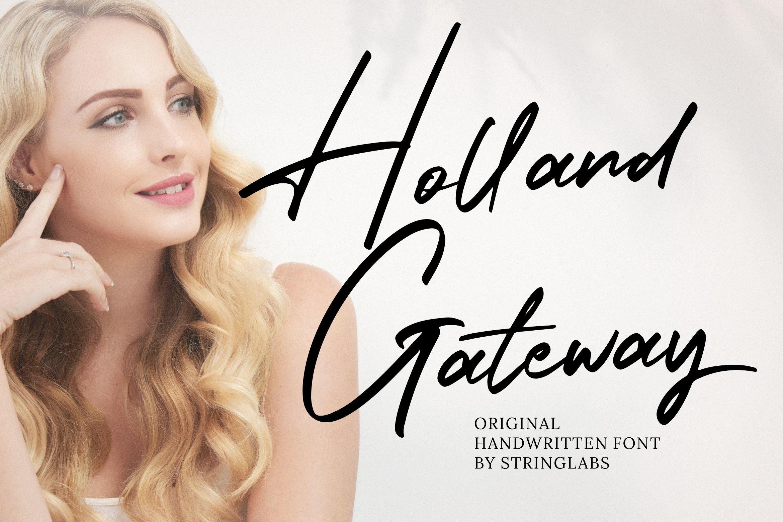 Holland Gateway - Handwritten Script Font example image 1
