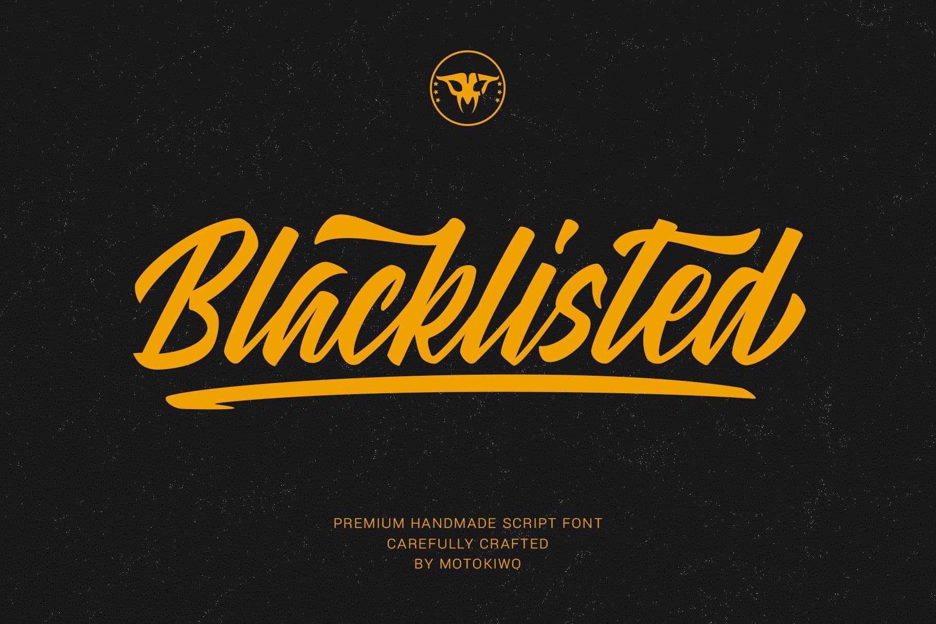 Blacklisted - Vintage Script Font example image 1