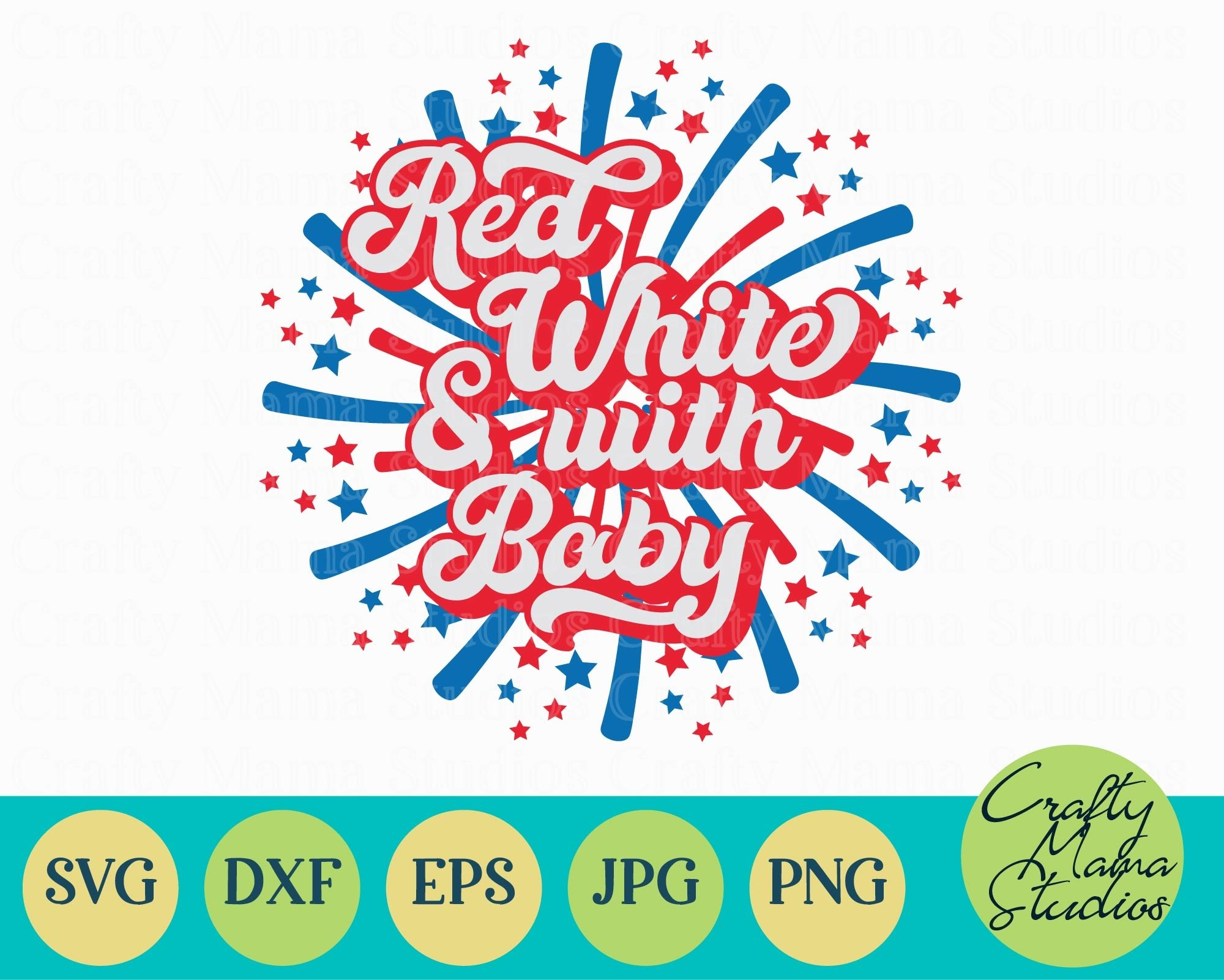 Red White And With Baby SVG, 4th Of July, Independence Day example image 2