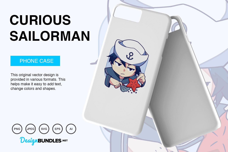 Curious Sailorman Vector Illustration example image 3