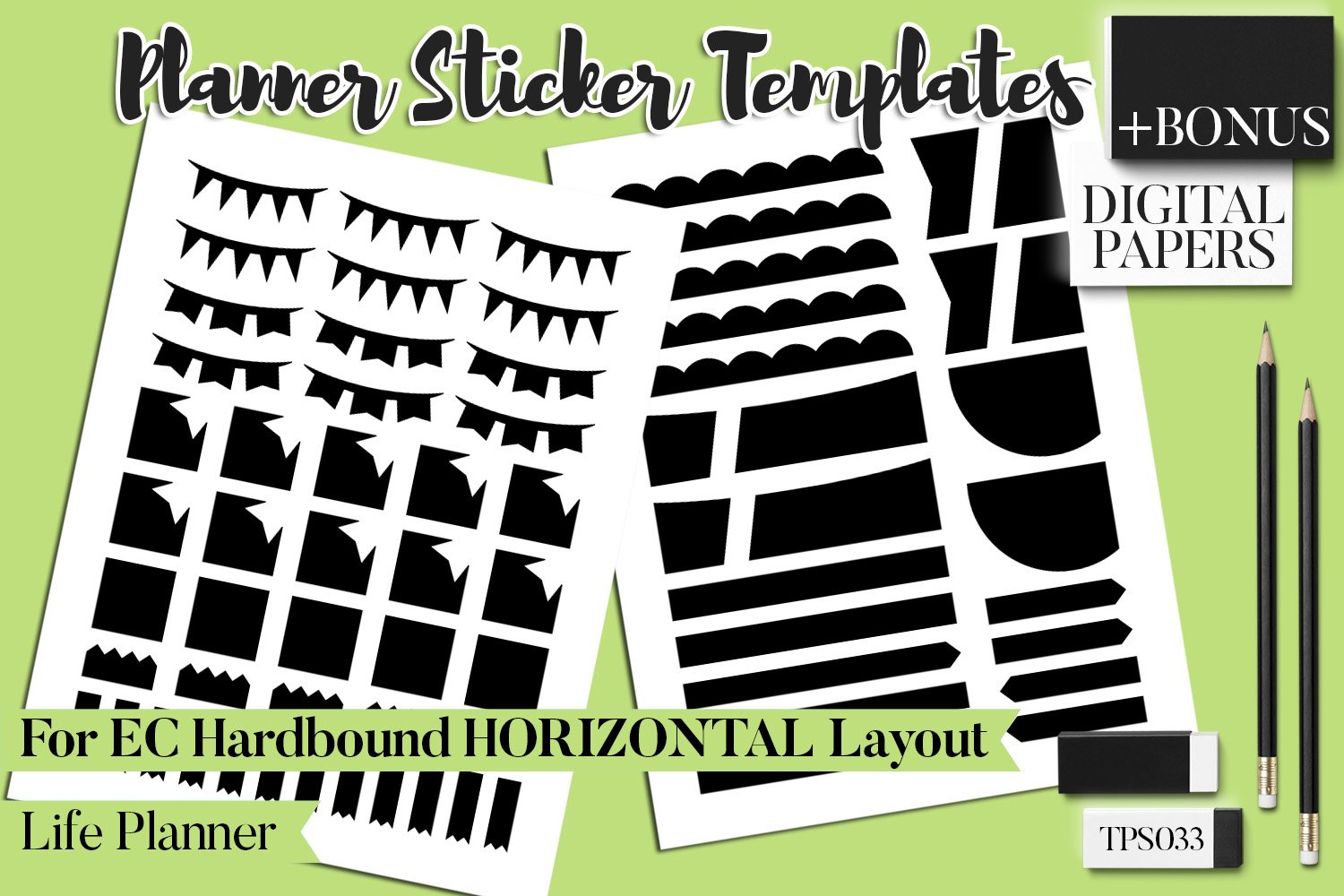 Planner Stickers Templates - Bundle Vol. 11 example image 15