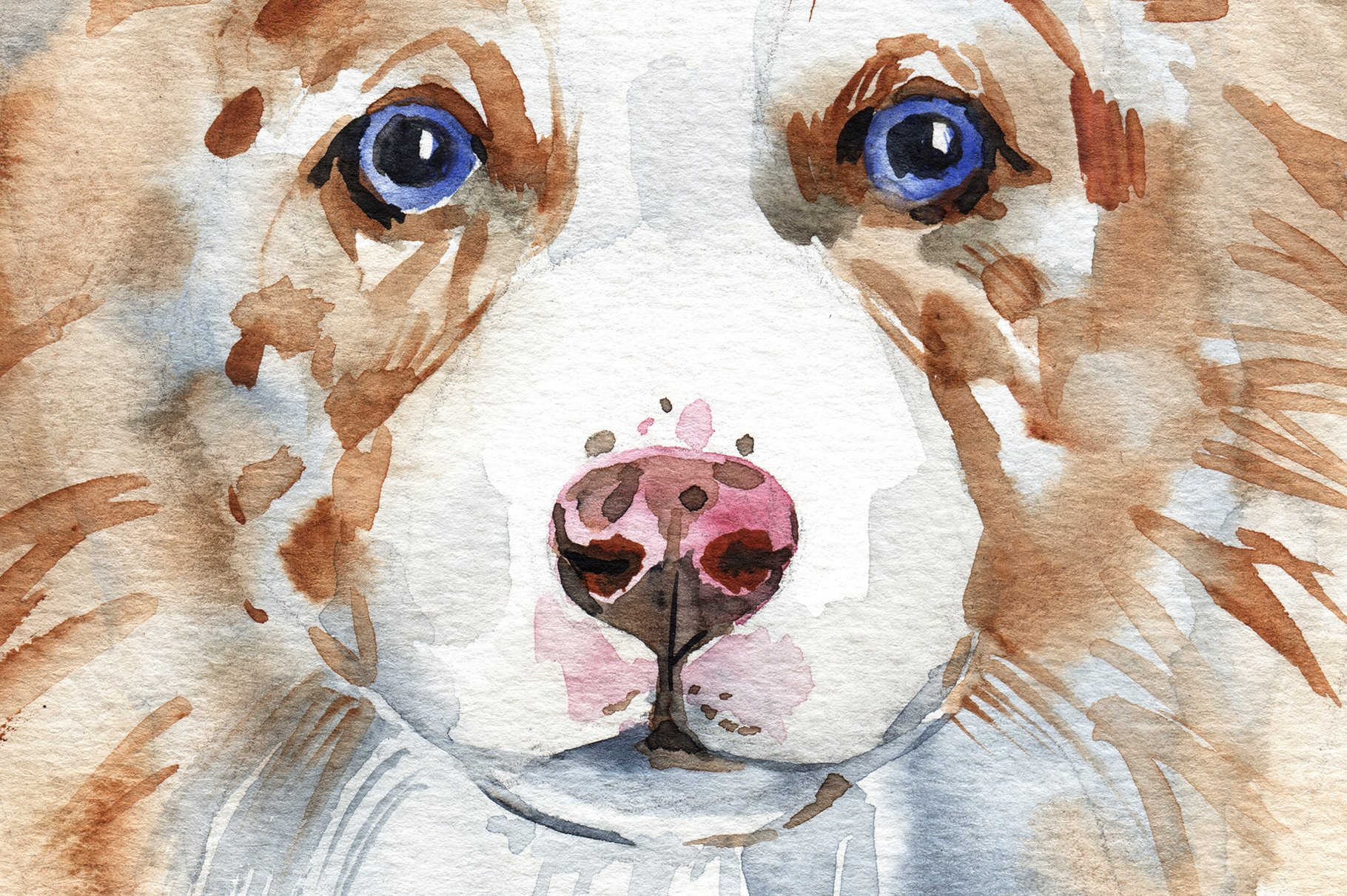 Watercolor herding dogs example image 9