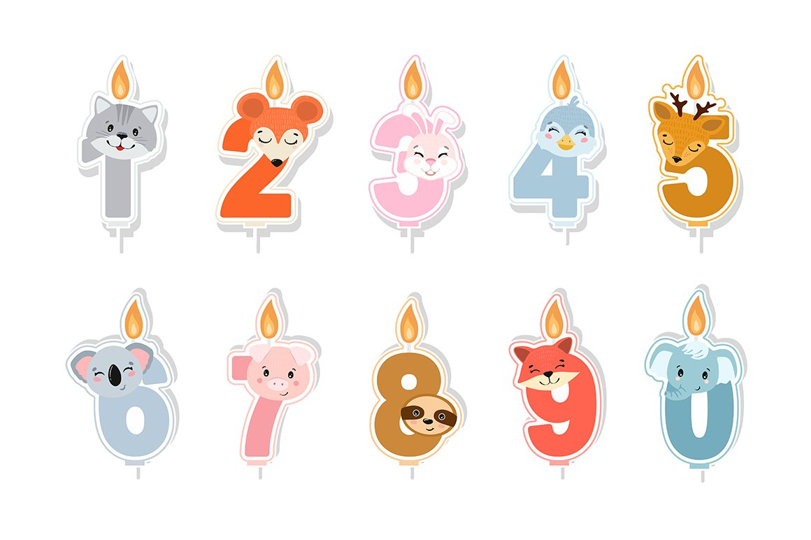 Birthday candles SVG example image 2