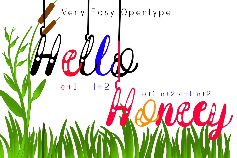 Hanging Darling Decorative Holiday Font example image 4