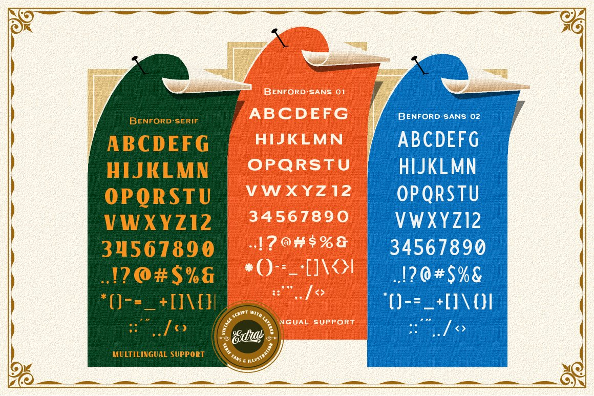 Benford Font Collections with Extras example image 10