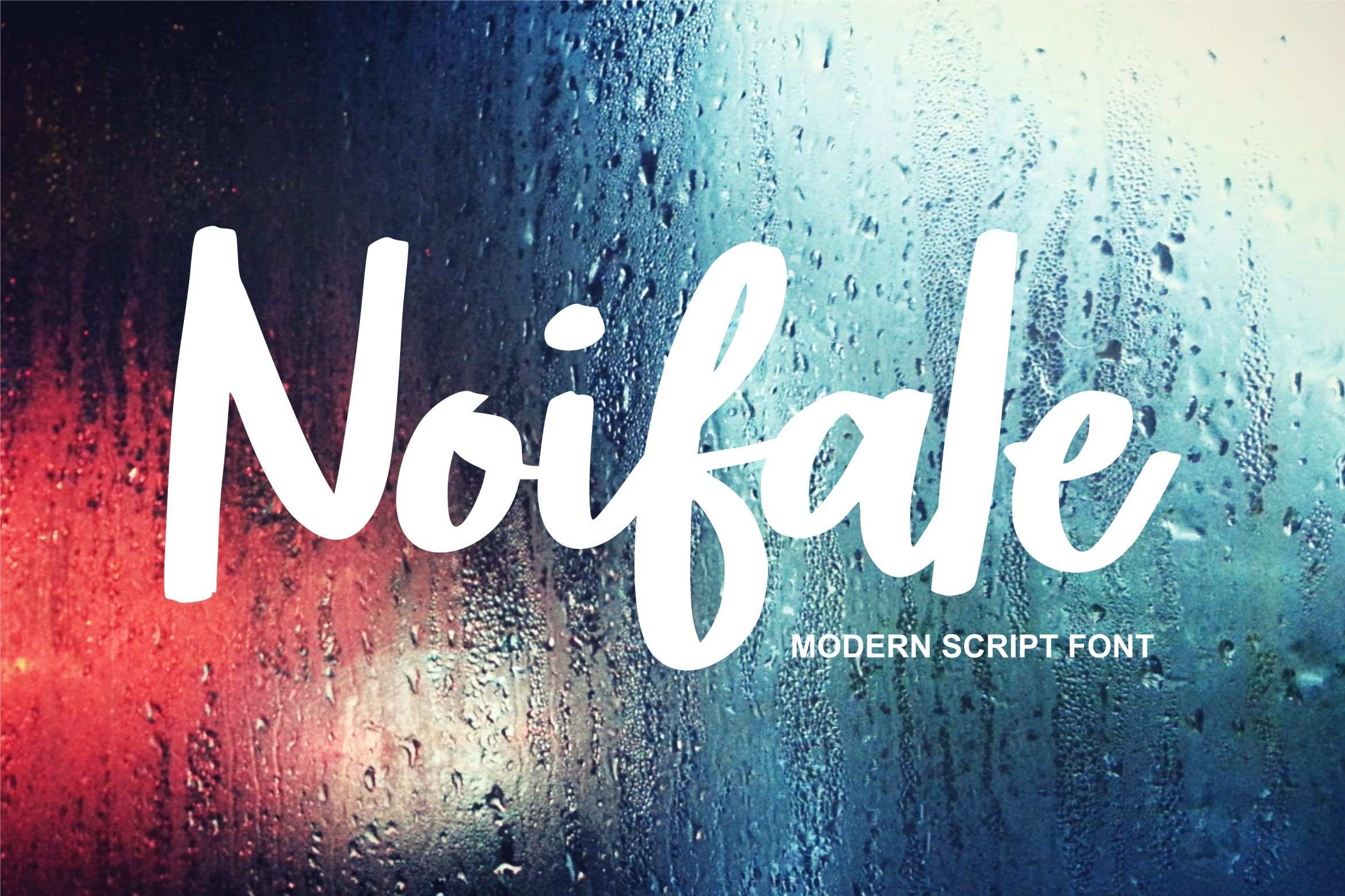 Noifale   Modern Script Font example image 1
