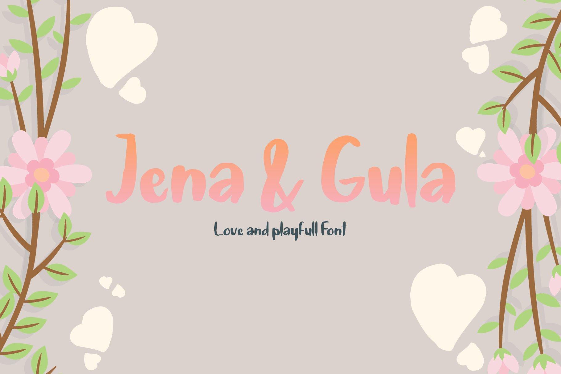 Jena & Gula | Love and Playfull Font example image 1