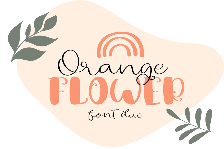 Orange Flower Font Duo example image 1