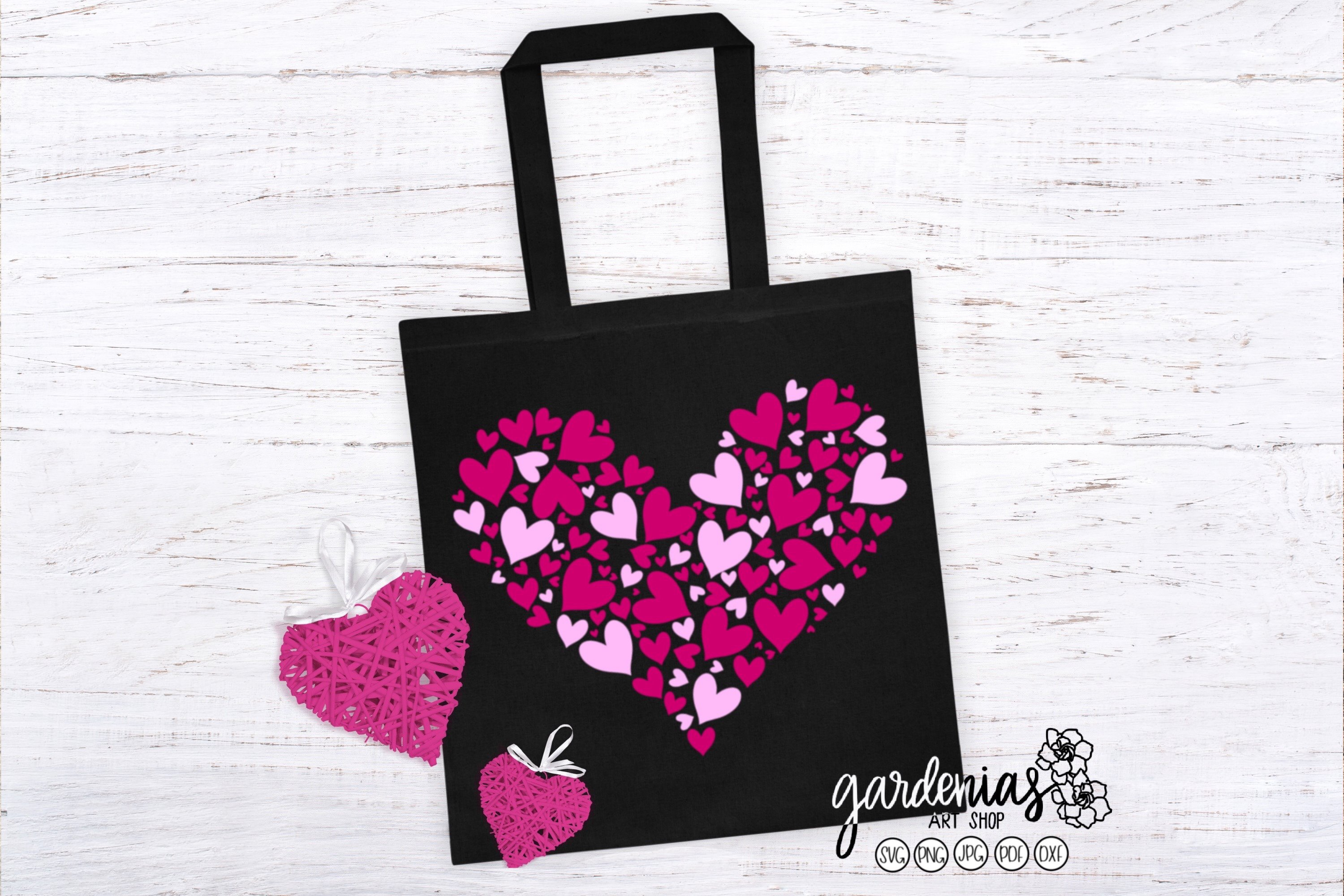 Pink Hearts in Heart SVG | Valentine's Day Sublimation example image 1