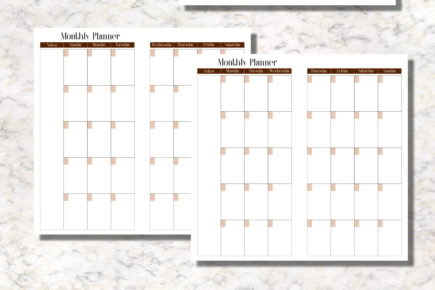 Coffee Standard Size Notebook Inserts Planner example image 2