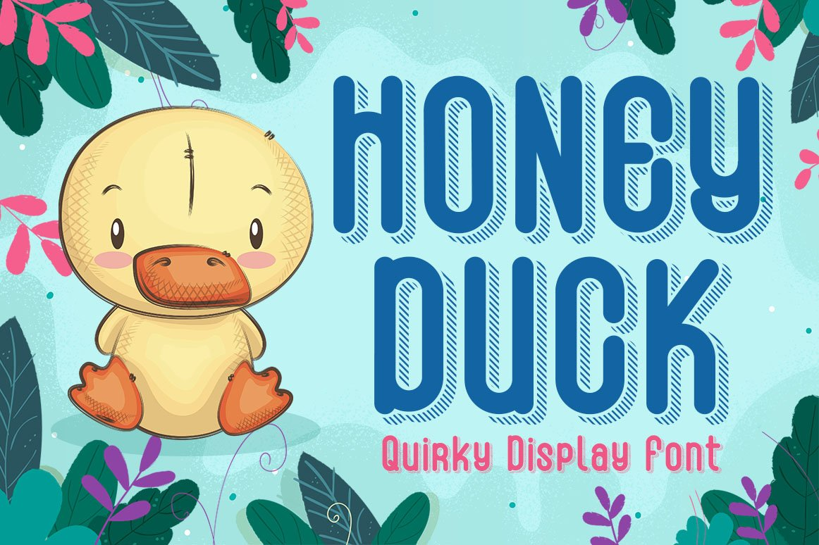 Honey Duck - Quirky Display Font example image 1
