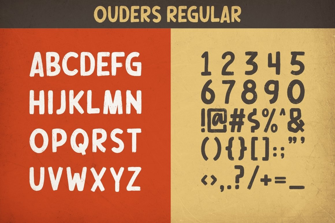 Ouders - Stencil & Regular Font example image 11