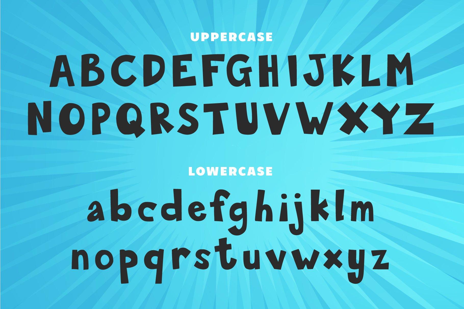 Shaped Corner | Display Font example image 2