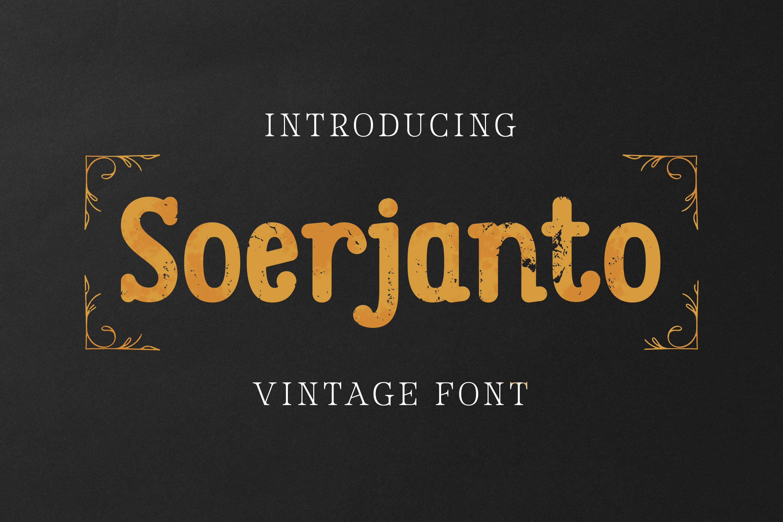 Soerjanto Font example image 1