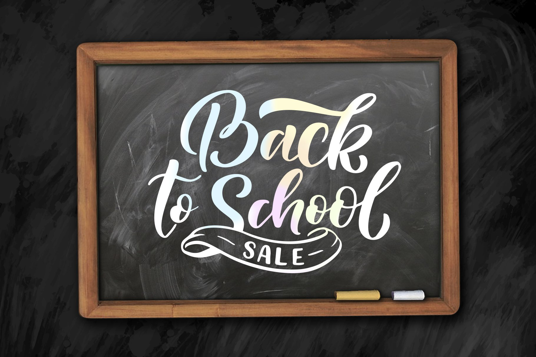 Lettering Kit - Back to School example image 2