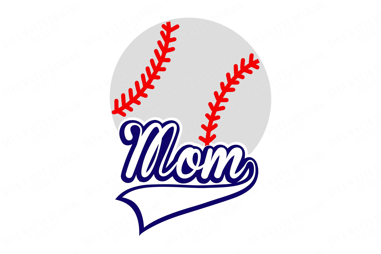 Baseball Mom - Banner Word - SVG DXF example image 2
