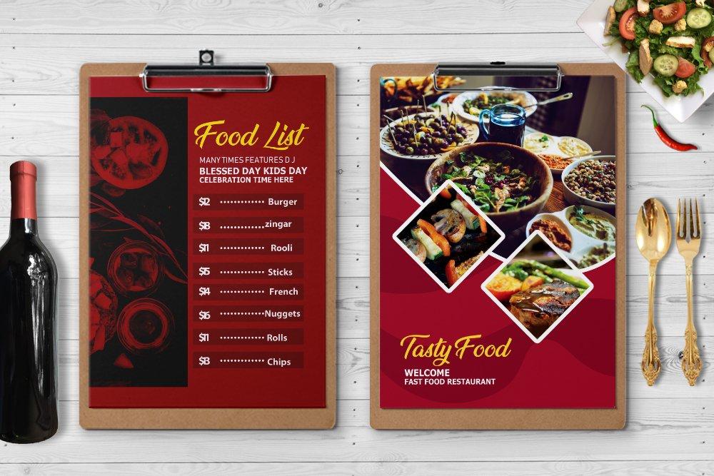 Food Menu Template Psd example image 4
