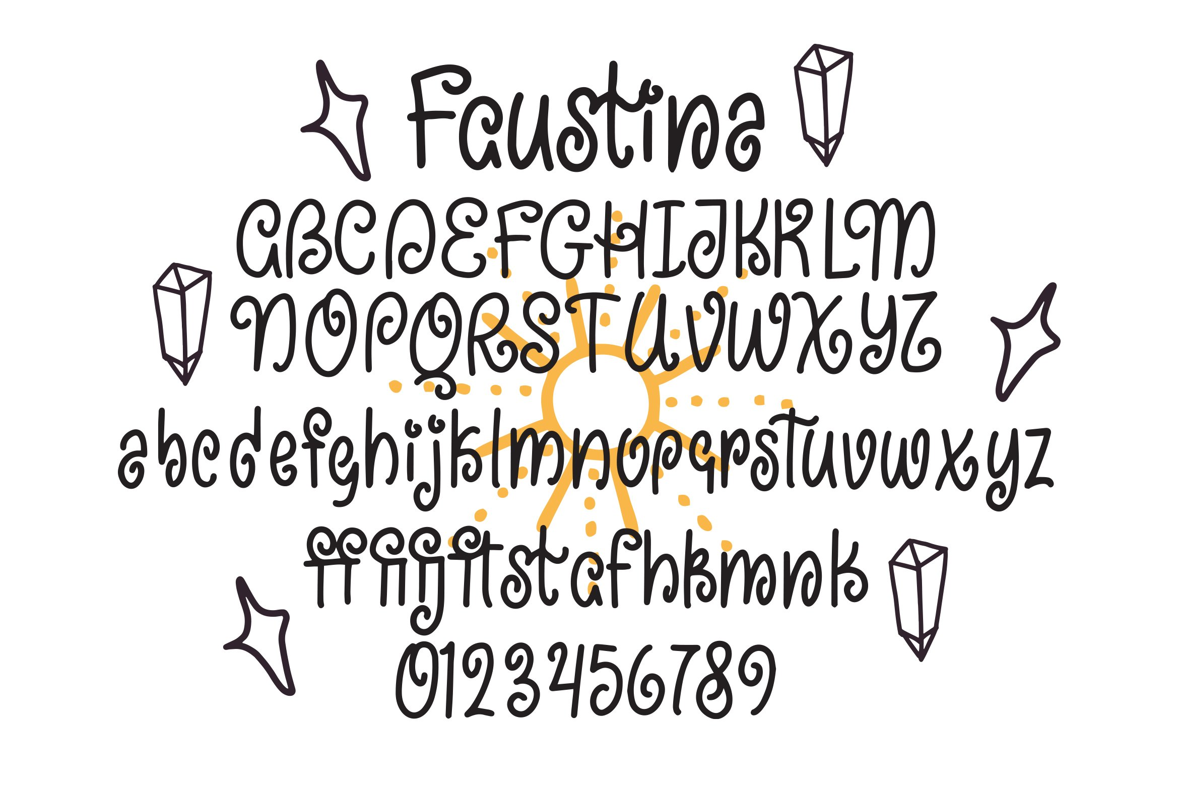 Faustina - Swirly Children Font example image 4