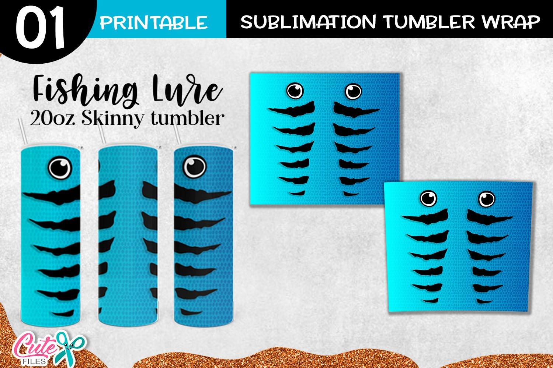 Download Blue Fishing Lure 20 Oz Skinny Sublimation Tumbler 1218749 Sublimation Design Bundles