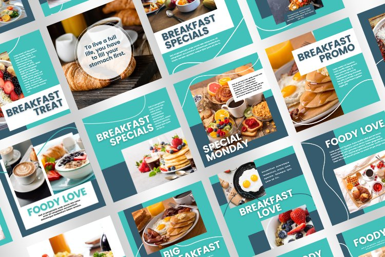 Foody 15 Instagram Square Canva Templates example image 4