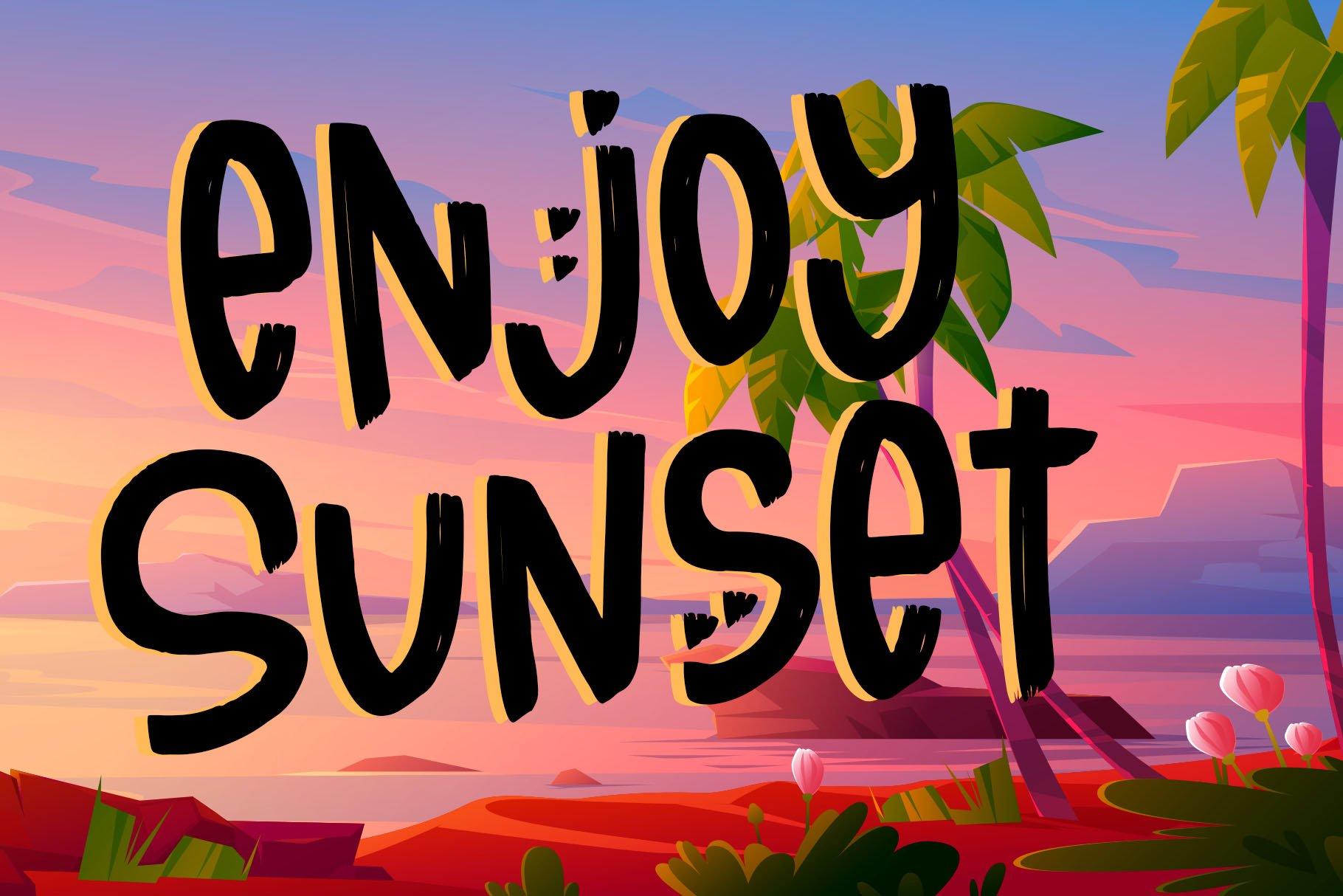 Sunset Story - Handwritten Font example image 7